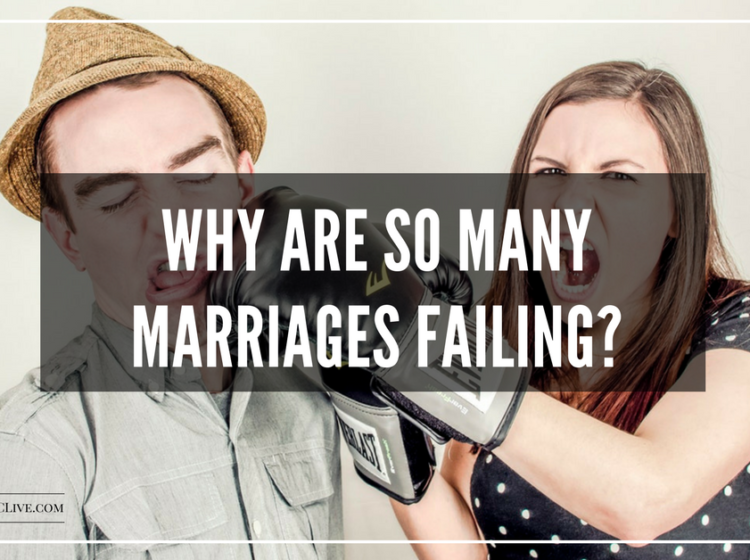 Marriages failing